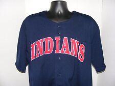 Cleveland Indians Victor Martinez #41 Sewn True Fan Blue Baseball Jersey Sz Xl
