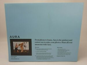 "Sawyer by Aura Digital Picture Frame 9.7"" LCD Wi-Fi Shale"