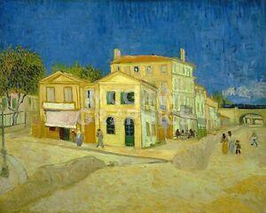 "VAN GOGH VINCENT-THE YELLOW HOUSE(THE STREET)1888-ART PRINT POSTER 11""X14""(1762)"