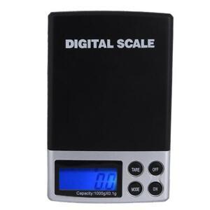 1000g/0,1 g schwarz LCD Digital Milligramm Waage Schmuck Balance Gramm Skal