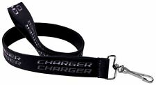 "Lanyard 1"" Key Chain Ring Neck Dodge Charger SRT Mopar Double Black Gray"