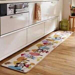 Kitchen Rug DISNEY Mickey Friends Anti Slip Washable 45cm 120cm polyester