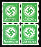 DR Nazi 3rd Reich Rare WW2 1934 Hitler's Swastika Officeal Service NSDAP 4 Stamp