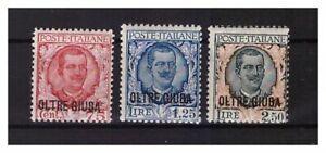 s13798) OLTRE GIUBA 1926 MNH** Nuovi** Def. Sovrat. 3v. Sass. 42/44