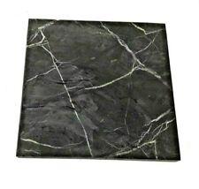Schungit & Shungit Platte 10 x 10 mm., matt Karelien / Zertifikat