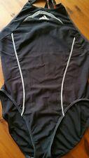 Adidas Badeanzug Schwimmer schwarz grau  Gr 40