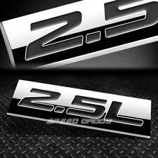 METAL EMBLEM CAR BUMPER TRUNK FENDER DECAL LOGO BADGE CHROME BLACK 2.5L 2.5 L