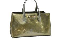 Authentic Louis Vuitton Vernis Wilshire PM Hand Bag Green LV 65368