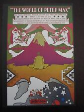 VINTAGE PETER MAX ART POSTER PRINT ~The World of Peter Max & Moon walk Pictures