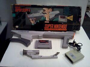 Super Scope 6 Super Nintendo, SNES Complete In Box (BOX IS IN ROUGH CONDITION)