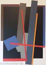 Rudolf VALENTA (1929-2015) 70x100 Farbsiebdruck Anno 1995 DIPTYCHON LINKS 15/25
