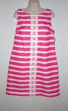 NEW $100 JESSICA HOWARD Fuchsia Pink & White Lace Panel Shift Dress, Plus 14W