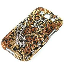 For Samsung Galaxy Siii S3 - DIAMOND BLING HARD CASE COVER GOLD LEOPARD CHEETAH