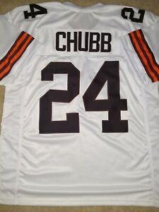 New Nick Chubb Lg Cleveland Browns Pro Custom Stitch Football Jersey Mens