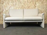 Vintage Cor Sofa 2er zweisitzer Couch Garnitur Design Stoffbezug Beige