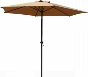 Umbrella 9' Aluminum Outdoor Patio Market Umbrella Tilt W/Crank