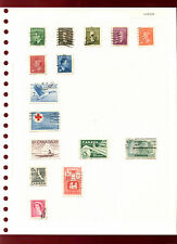 Canada Album Page Of Stamps #V4820