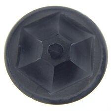 Vintage Ladies Bakelite Large Hand Carved Black Button For Fur Coats 1.5in N721
