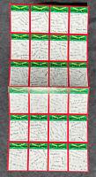 1974 Topps Baseball UNCUT Team Card SHEET All Teams MLB Cards Autograph unnumber