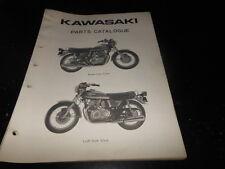 OEM  PARTS CATALOG LIST KAWASAKI 1974 KZ400 92 PAGES