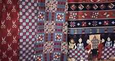 4 Pcs Heart Felt Quilt Fabric - patriotic colors - 6 yds total