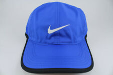 NIKE FEATHER LIGHT DRI-FIT ADJUST CAP HAT ROYAL BLUE/BLACK TRAINING SWOOSH MENS