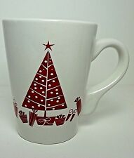 California Pantry 2009 Red Stick Figure Christmas Tree Classic Ceramic White Mug