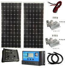 Kit de panel solar de 200W 12V Cargador De Batería 20A controlador doble Caravana Barco MPPT