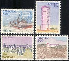 Dinamarca 1980 vistas y Paisajes/barcos/Faro/piedra Círculo/edificios 4 V n44736