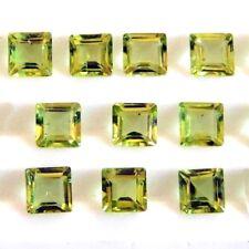 Wholesale Lot 5x5mm Square Facet Cut Natural Peridot Loose Calibrated Gemstone