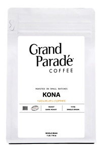 100% Hawaiian Kona Dark Roast, Fresh Roasted Whole Bean Coffee, 1 LB Bag