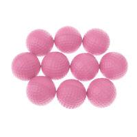 10pcs PU Foam Sponge Golf Training Soft Balls Golf Practice Balls, Pink