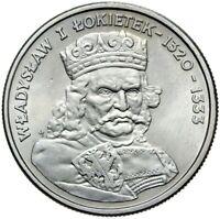 Gedenkmünze Polen - 100 Zlotych 1986 - WLADYSLAW I LOKIETEK - Stempelglanz UNC
