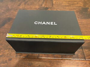 Authentic Chanel Box with Tissues, Ribbon, Flower & Receipt Card Holder