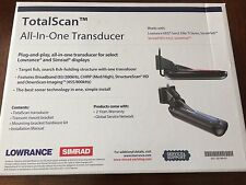 Lowrance Simrad TotalScan Transducer [000-12568-001] Free Shipping. Brand New!!!