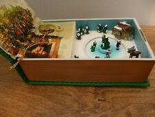 More details for mr christmas deck the halls wind up music box clockwork book vintage decoration