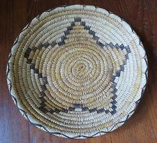 "Nice Native American Apache Star Basket - 12 1/4"" South West"