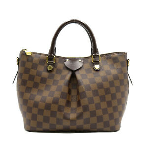 LOUIS VUITTON Siena PM 2way hand tote bag N41545 Damier canvas Brown Used