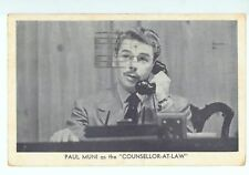 Paul Muni as the Counsellor-at-Law, Royale Theatre, New York 1943 - See Photos