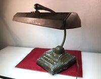 """Large Vintage Antique Industrial 18"""" Gooseneck Desk Lamp Light Workbench WORKING"""