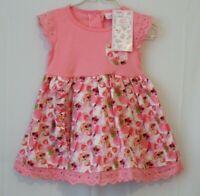 Sweet Elegance Baby Girls Flowers Fruit Pink/Peach  Dress 18 Months