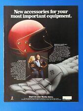 Vintage 1980 Harley-Davidson Helmet & Accessories - Full Page Color Original Ad