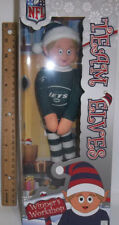 "New York Jets NFL TEAM Logo Elves Elf Christmas decor 9"" Shelf Mantle"