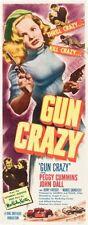 Gun Crazy 14inx36in Insert Movie Poster Replica