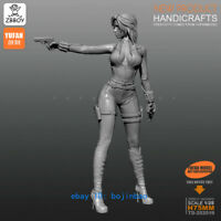 75mmH Sexy Spy girl Unpainted Model Kits YUFAN Garage Kit 1/24 Resin Figure New