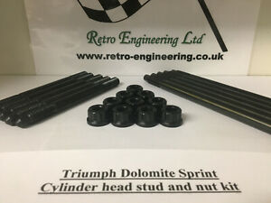 Triumph Dolomite Sprint Cylinder Head Stud & Nut Kit