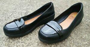 Fit Flop F-Pop Leather Loafers Shoes Women's US 5 , UK 3 , EU 36 BLACK
