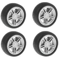 4Pcs Road Wheel Rims & Rubber Tires 40mm Hubs For RC Hobby Car Parts