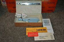 Working Vintage 1965 Dominion Model 2805 Electric Knife Complete w/ Case
