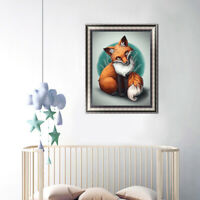 Animal Fox Cross Stitch Craft DIY Mosaic Full 5D Round Diamond Painting Mystic